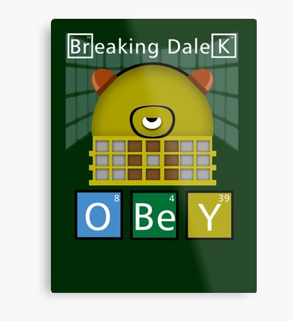 Breaking Dalek Metal Print