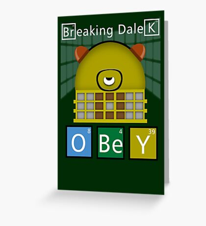 Breaking Dalek Greeting Card