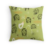 Shrunken Heads Retro Pattern Throw Pillow
