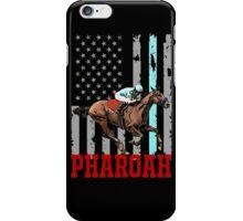 USA flag american pharoah racehorse iPhone Case/Skin