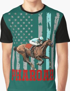 USA flag american pharoah racehorse Graphic T-Shirt