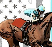 USA flag american pharoah racehorse Sticker