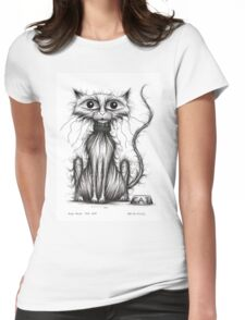 Fish face the cat Womens Fitted T-Shirt