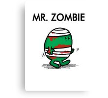 MR. ZOMBIE Canvas Print