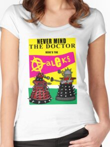 The Punk Daleks  Women's Fitted Scoop T-Shirt