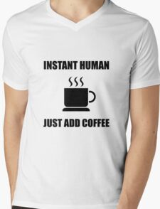 Instant Human Coffee Mens V-Neck T-Shirt