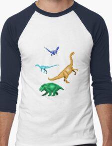 Prehistoric Pixels: Triassic Men's Baseball ¾ T-Shirt