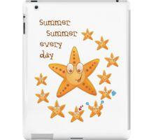 Cute funny sea star among little ones iPad Case/Skin