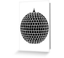 Mirror ball disco Greeting Card