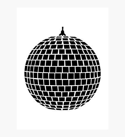 Mirror ball disco Photographic Print