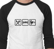 Eat sleep motocross Men's Baseball ¾ T-Shirt