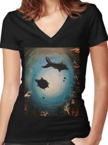 under the sea Women's Fitted V-Neck T-Shirt
