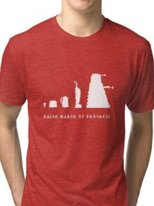 Dalek March of Progress White Tri-blend T-Shirt