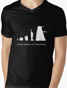 Dalek March of Progress White Mens V-Neck T-Shirt