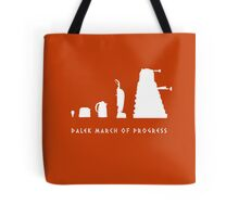 Dalek March of Progress White Tote Bag