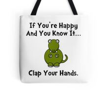 TRex Clap Your Hands Tote Bag
