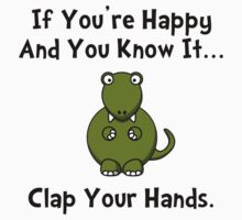 TRex Clap Your Hands Kids Tee