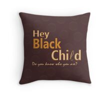 Black Child Collection Throw Pillow
