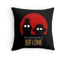The adventures of bert & ernie Throw Pillow