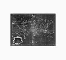 World Map (1778) Black & White  Unisex T-Shirt