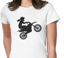 Motocross girl woman Womens Fitted T-Shirt