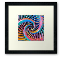 Opposing Spiral Pattern in 3-D Framed Print