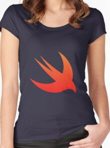 Swift Programming logo Women's Fitted Scoop T-Shirt