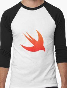 Swift Programming logo Men's Baseball ¾ T-Shirt