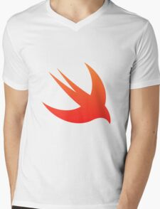 Swift Programming logo Mens V-Neck T-Shirt