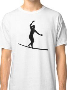 Slackline woman girl Classic T-Shirt