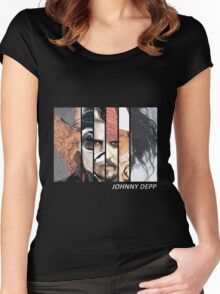 Johnny Depp Characters Women's Fitted Scoop T-Shirt