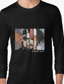 Johnny Depp Characters Long Sleeve T-Shirt