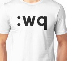 :wq - Black Text for Vi/Vim Users Unisex T-Shirt