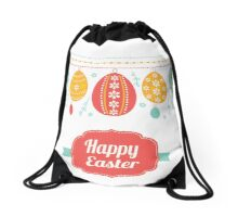 Happy Easter Day Drawstring Bag
