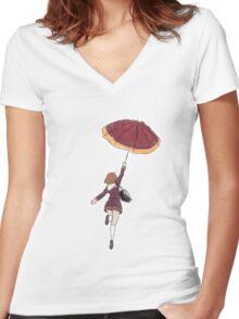 Hibike! Euphonium Kumiko Umbrella Colour Women's Fitted V-Neck T-Shirt