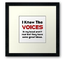 Voices In Head Framed Print