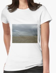 Sea View Sailing Home Cloudy Sky Womens Fitted T-Shirt