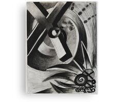 Abstract Charcoal Drawing  Canvas Print