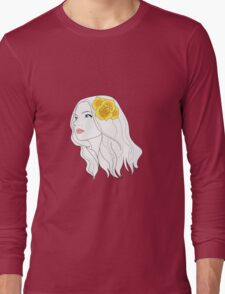 Girl with Rose Long Sleeve T-Shirt