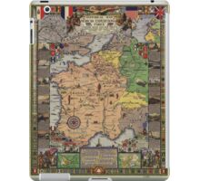 American Expeditionary Force World War I Map iPad Case/Skin