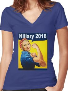 hillary 2016 Women's Fitted V-Neck T-Shirt