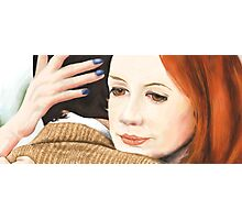 Amy Pond and the 11th Doctor Photographic Print