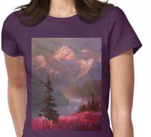 Denali Summer - Alaskan Mountains in Summer Landscape Painting Womens Fitted T-Shirt