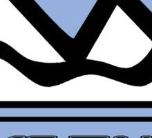LAKE TAHOE NEVADA Mountain Skiing Art Sticker