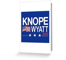 knope wyatt 2016 Greeting Card