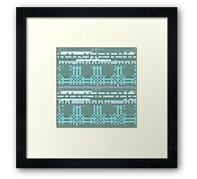 Bytes and Pieces blue Framed Print