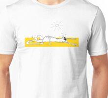 Lazy Sunbathing Cat Unisex T-Shirt