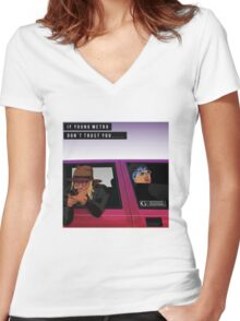 Young Metro Shirt Women's Fitted V-Neck T-Shirt
