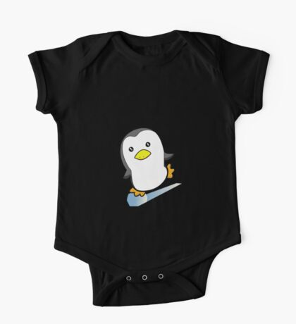 Skating Penguin One Piece - Short Sleeve