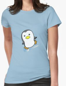 Skating Penguin Womens Fitted T-Shirt